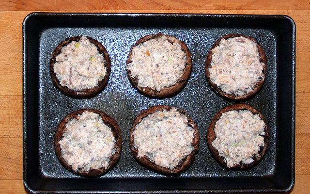 I funghi ripieni con la ricetta per il Bimby