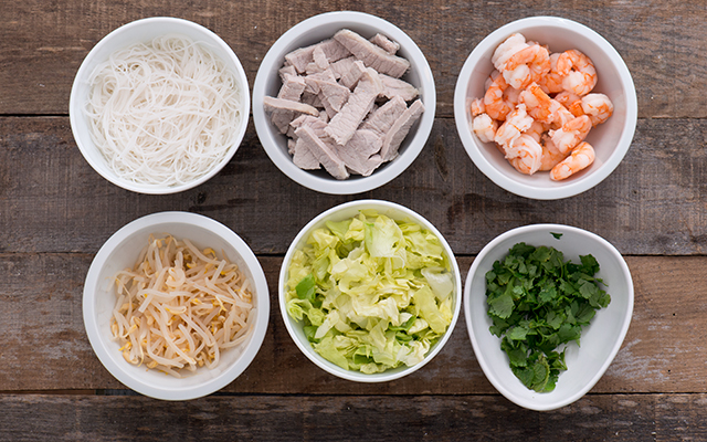Involtini estate Nam Cuon - ingredienti