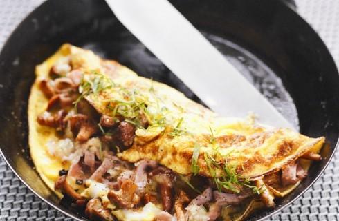 Omelette ai funghi e prosciutto