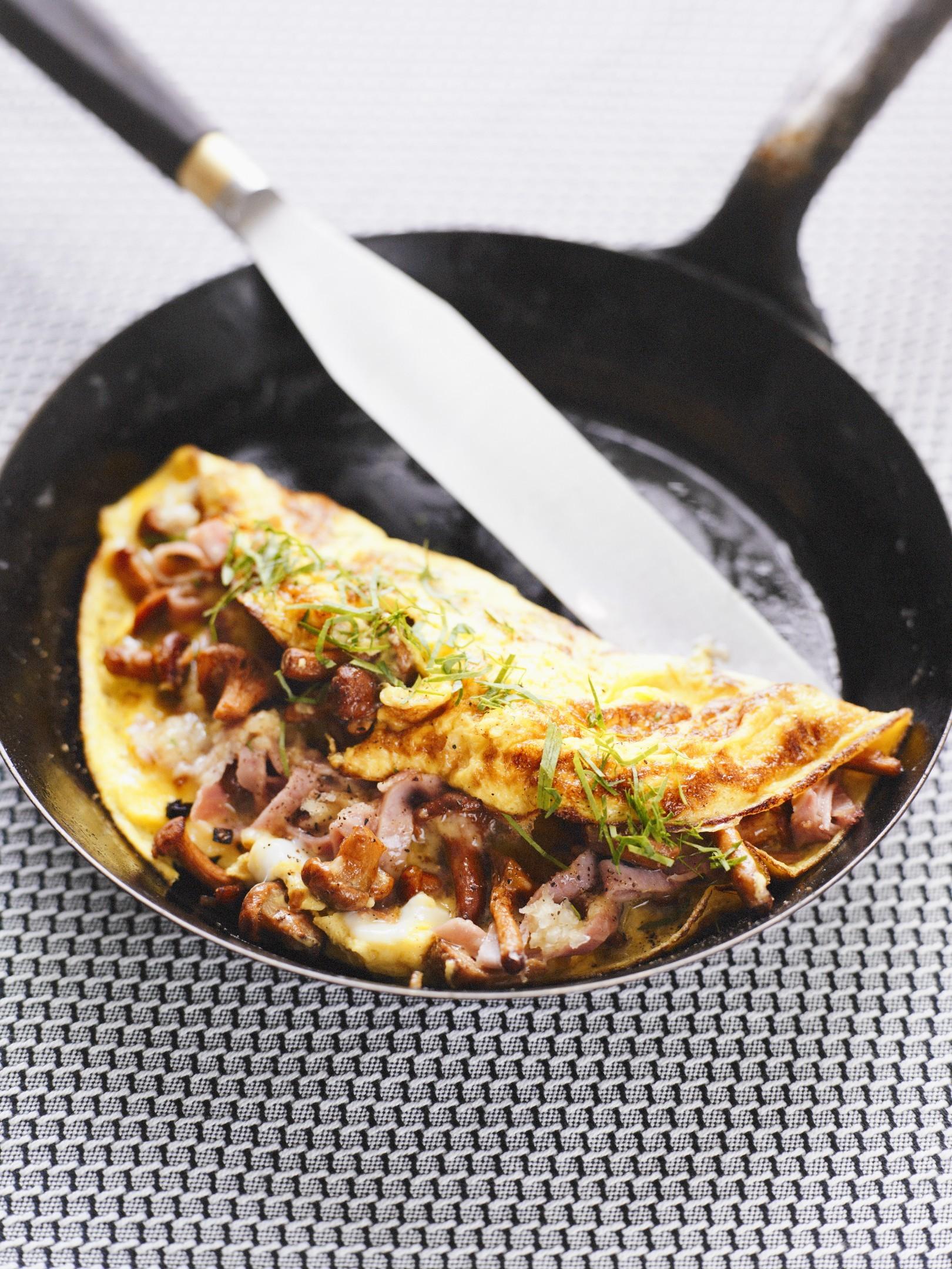 Ricetta Omelette Prosciutto E Funghi.Omelette Ai Funghi Agrodolce