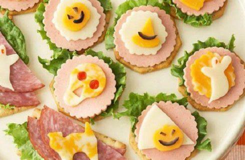 Le tartine salate per il buffet di Halloween