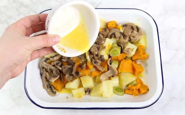 Pasticcio di verdure - aggiungere il burro