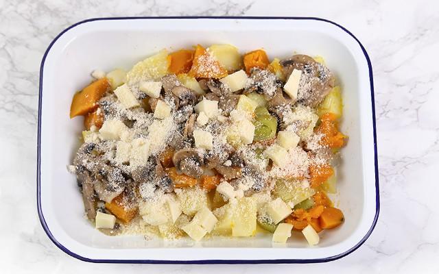 Pasticcio di verdure - parmigiano grattugiato