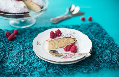 La torta al cioccolato bianco