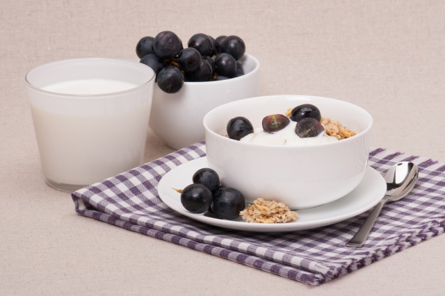 uva con yogurt