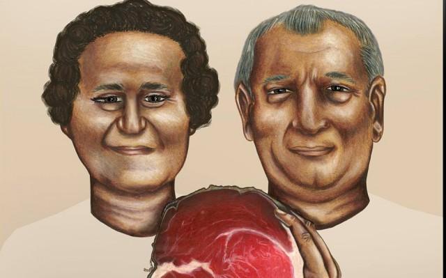 Mirella e Peppino Cantarelli disegnati da I.Spallanzani