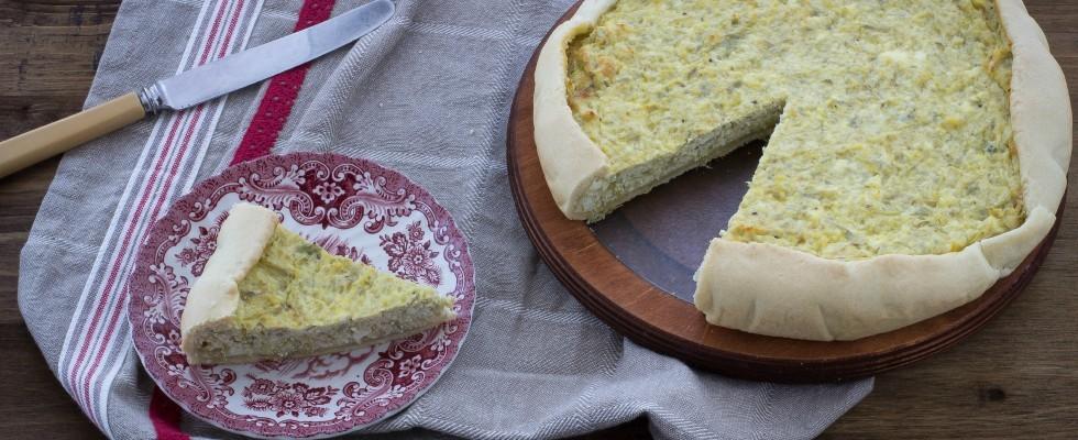 Torta rustica con carciofi e ricotta