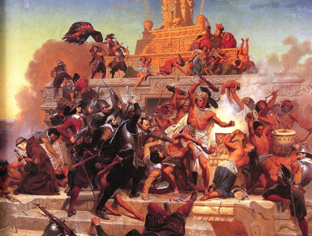 aztechi e conquistadores