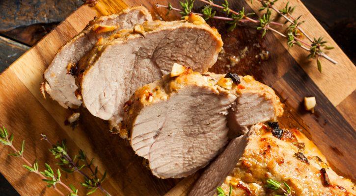 L'arrosto di lonza da fare al forno con funghi