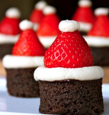I brownies di Babbo Natale da preparare per i bimbi