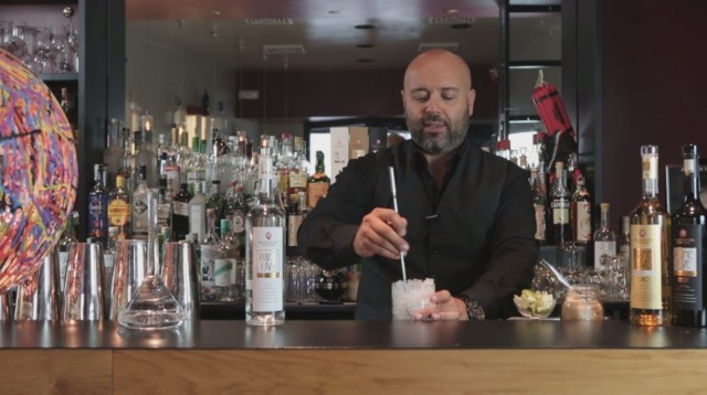 caipivigna - 1 raffreddare il bicchiere