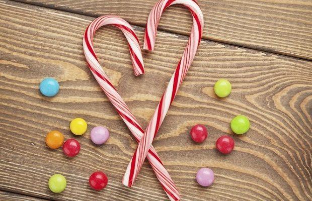 I candy cane da fare con la ricetta di Natale