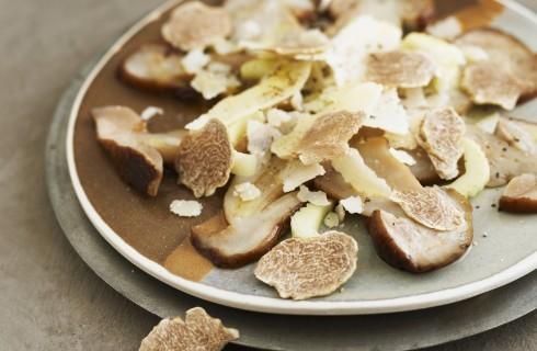 Carpaccio di funghi e tartufo