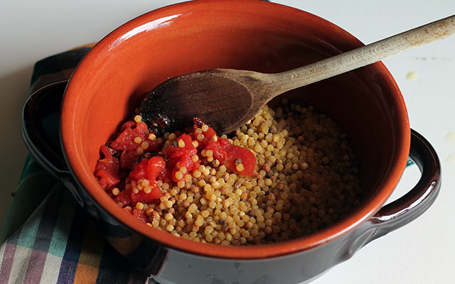 fregola con arselle step4