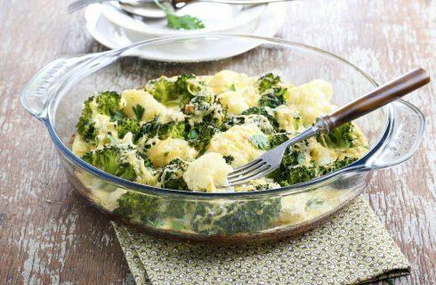 Gratin di cavolfiore e broccoli: la ricetta al forno light e sfiziosa