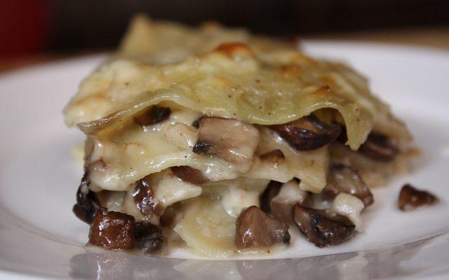 Le lasagne light ai funghi con la ricetta facile