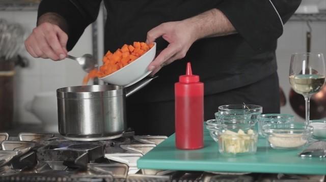 risotto alla zucca - aggiungete la zucca