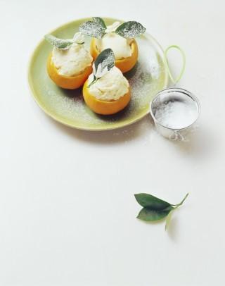 Sorbetto al mandarino con gelatiera