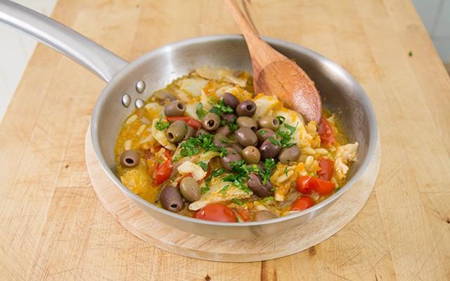 stoccafisso accomodato - olive e prezzemolo