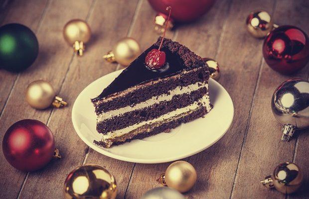 La torta di Natale con base di Pan di Spagna