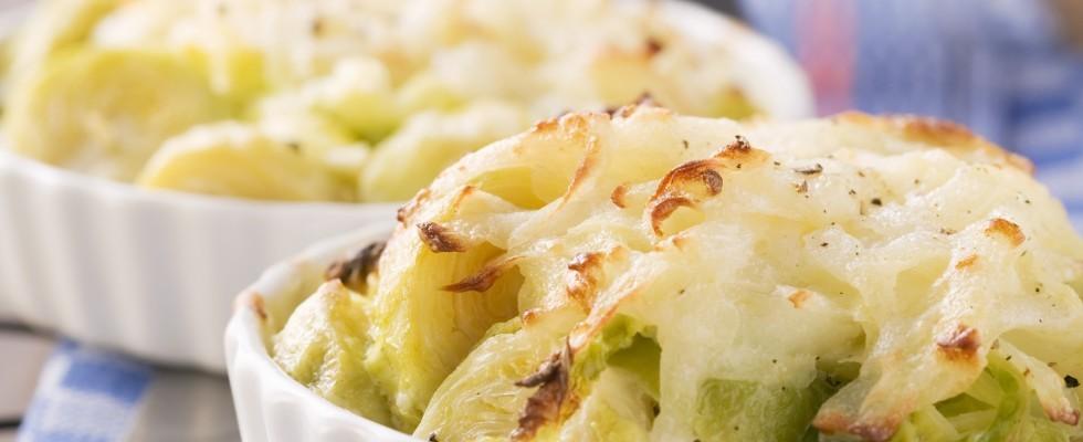 Verza al forno con formaggio