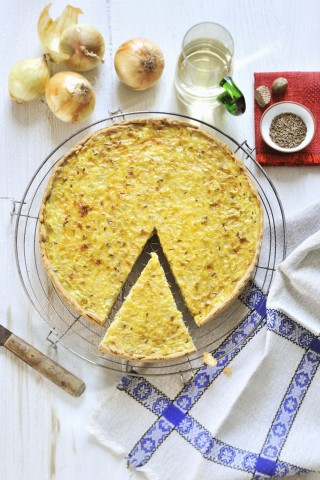 Torta di cipolle e formaggio