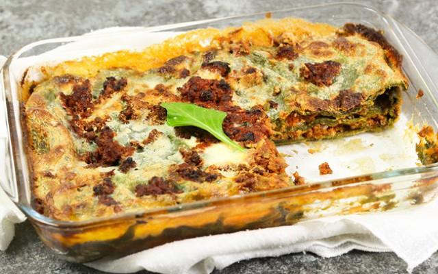 Lasagna verde bolognese