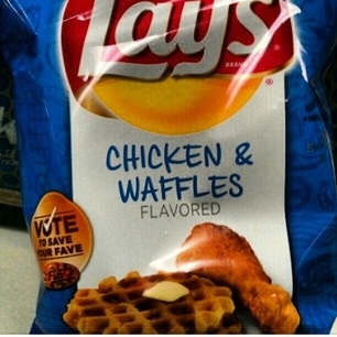 lays chicken waffle