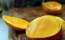 La torta al mango e cioccolato bianco per il dessert di fine pasto