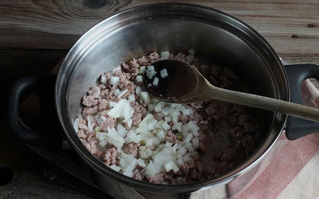 risotto con salsiccia step2