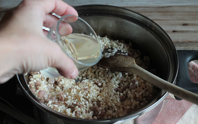 risotto con salsiccia step3