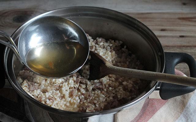 risotto con salsiccia step4