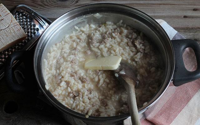 risotto con salsiccia step5