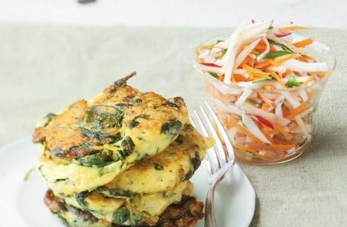 Frittelle di spinaci e patate