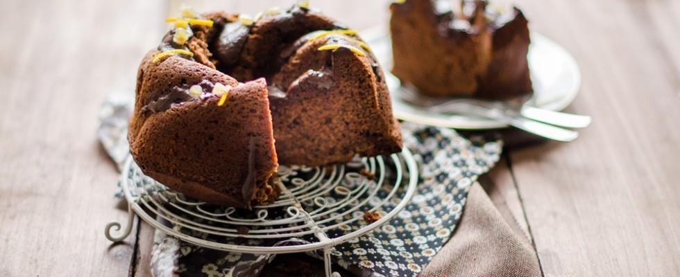 Torta all'arancia e cioccolato fondente