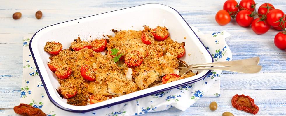 Filetti di merluzzo al forno impanati