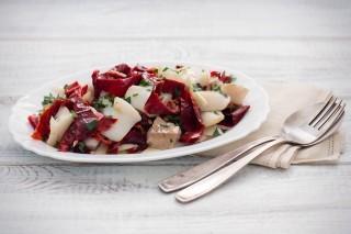 Baccalà in insalata con peperoni secchi