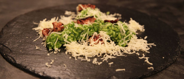 Il Risotto con crema di spinaci dello chef Alessandro Borghese