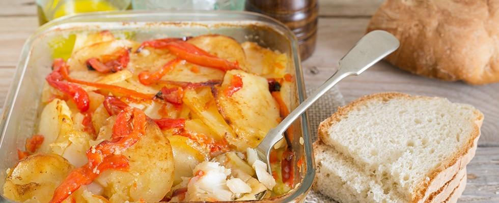 Baccalà con patate e peperoni: alla cosentina