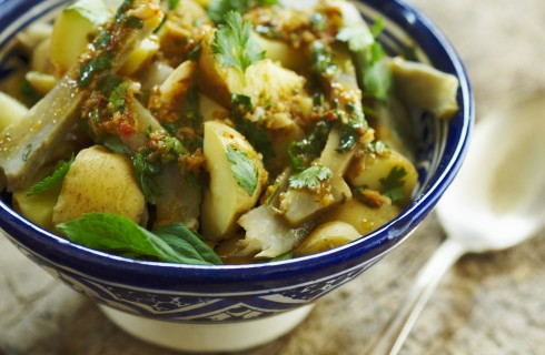 Carciofi e patate: insalata invernale