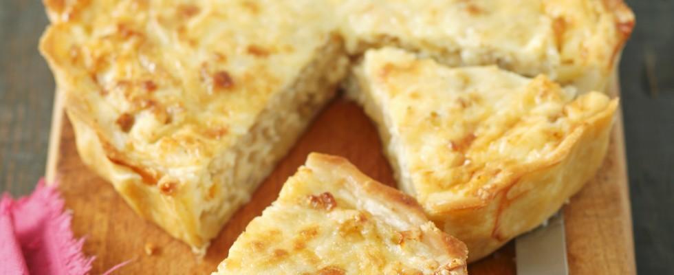 Quiche di cipolle e formaggio