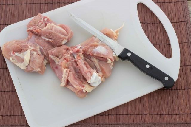 pollo al sesamo Step 1
