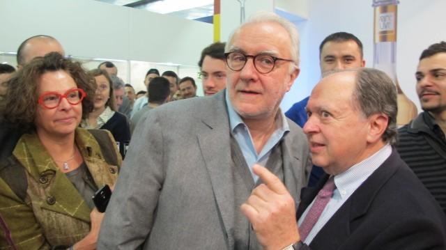 Alain Ducasse con Enzo Vizzari, direttore della guida dell'Espresso.