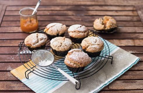 Muffin senza burro e uova con marmellata