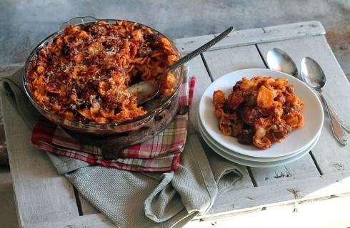 Orecchiette al forno con polpette