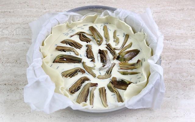 torta salata ai carciofi step (5)