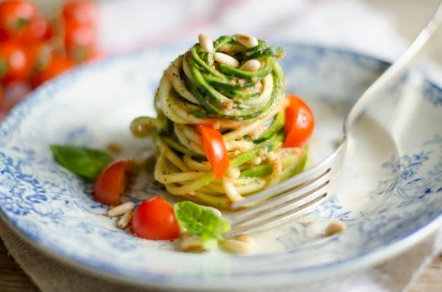 Spaghetti di zucchine-5