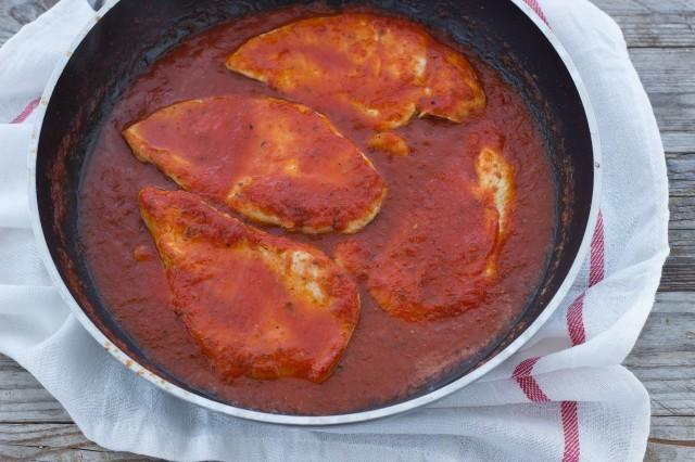 petti di pollo alla pizzaiola Step 2 pollo