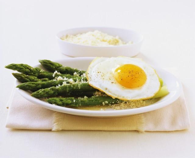 asparagi e uova (asparagi alla milanese)