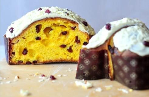 Colomba al cioccolato bianco e mirtilli